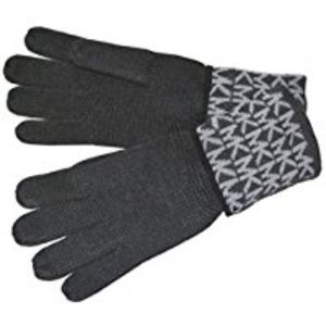 MK Signature Logo Knit Gloves